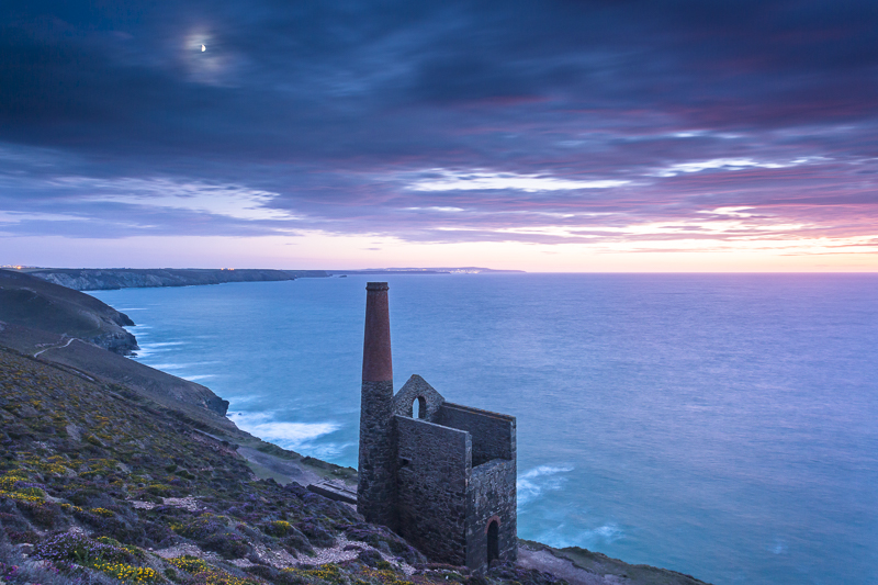 Moonrise over Wheal Coates