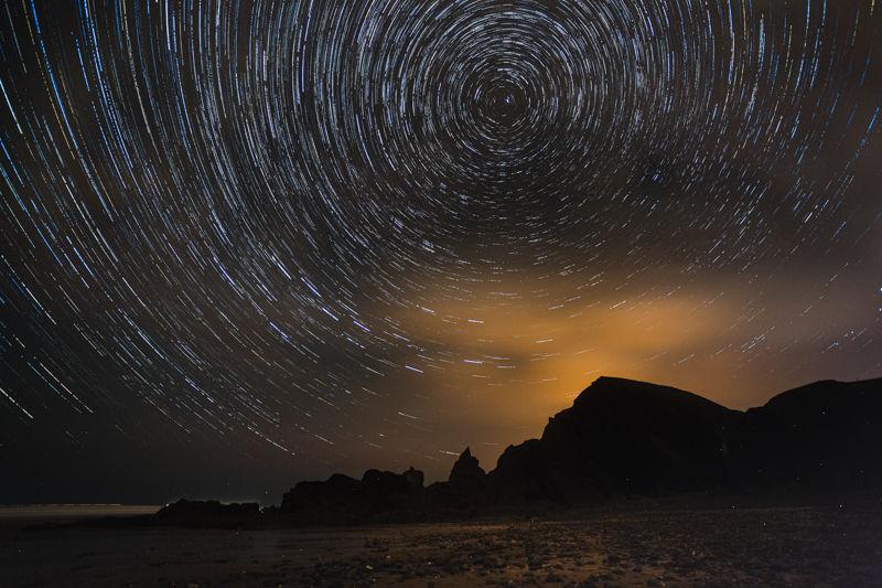 Stars at Sandymouth
