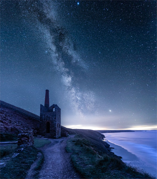 Milky way over Wheal Coates