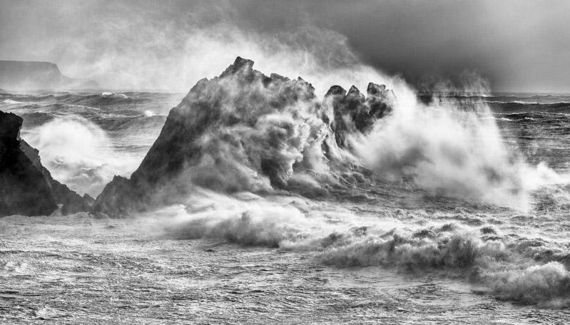 Storm Ophelia at Hartland Quay