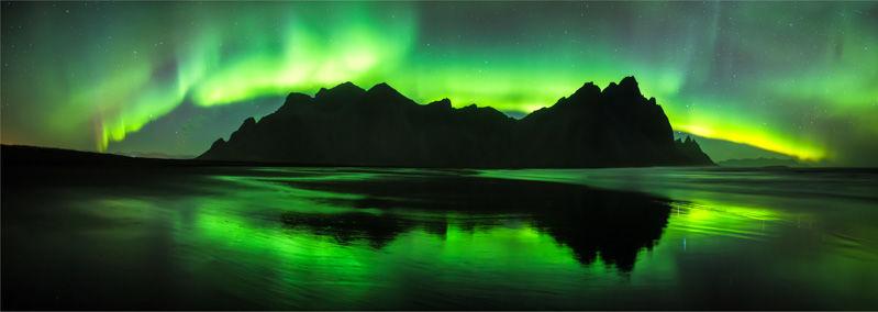Aurora reflected