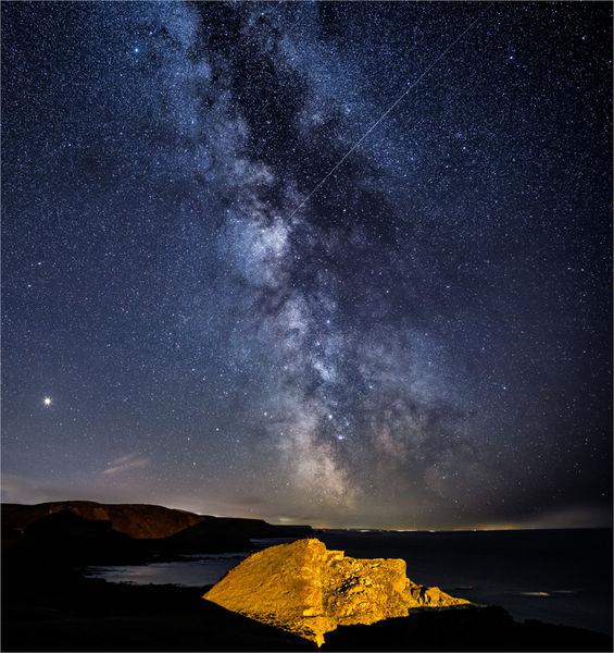 Stars and Meteor, Hartland Quay