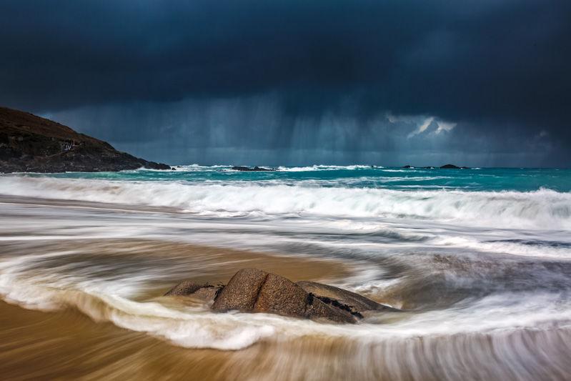 Storm Doris at Portheras