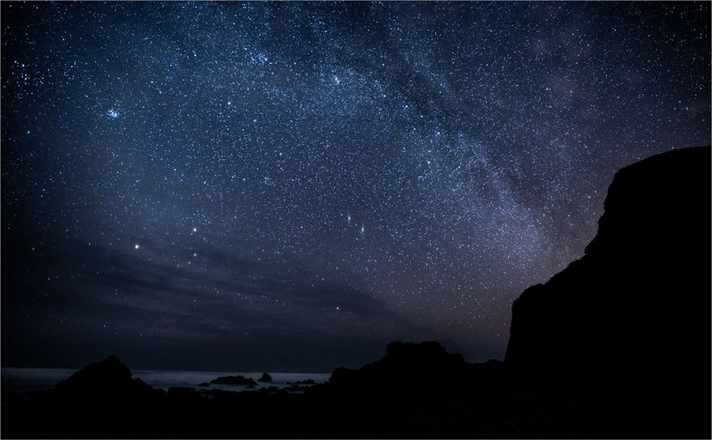 Milky way at Sandymouth