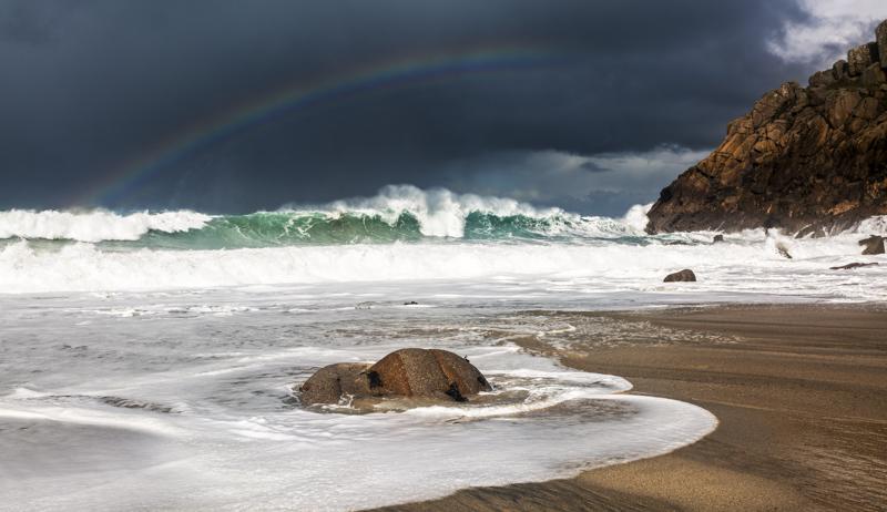 Rainbow at Portheras