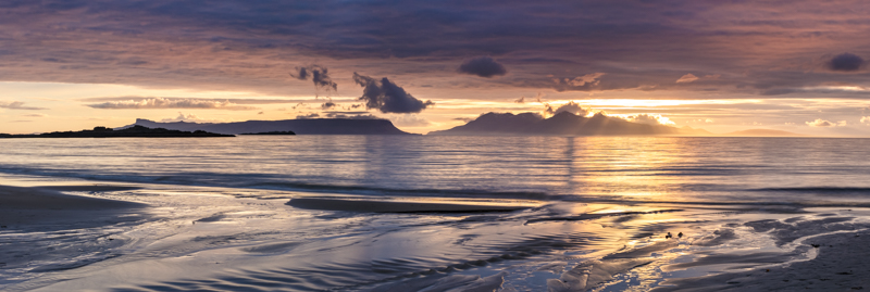 Sunset over Eigg and Rhum