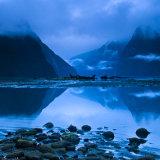 Blue dawn at Milford Sound