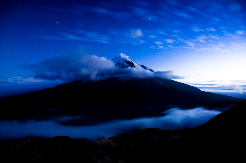 Moonlight on Taranaki