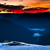 Red dawn from Tronador volcano