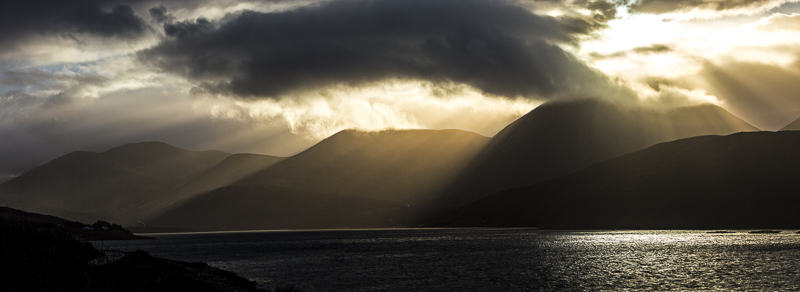 Rays over the Cuillins