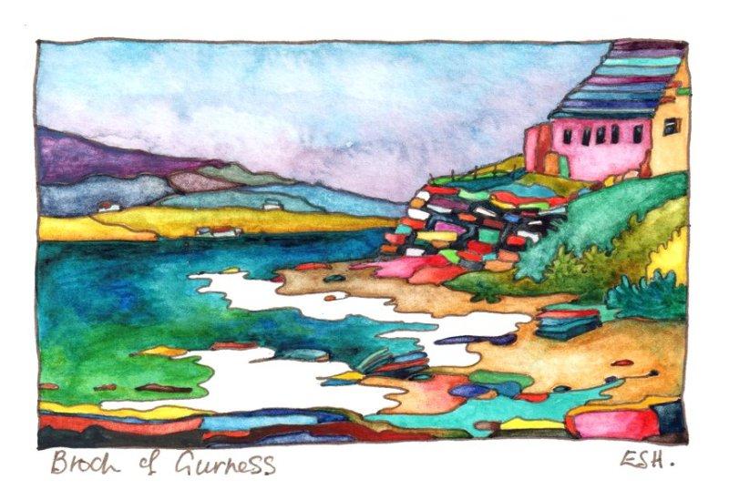 *Broch of Gurness Orkney
