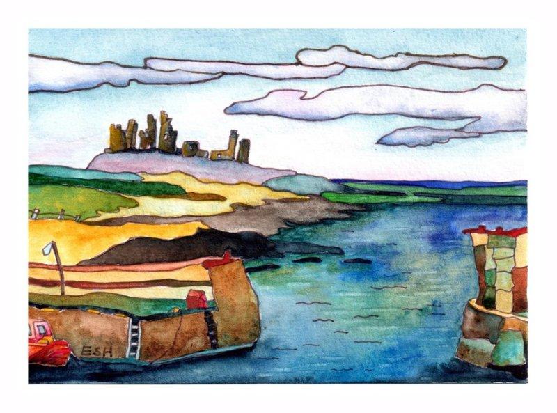 *Dunstanburgh from Craster