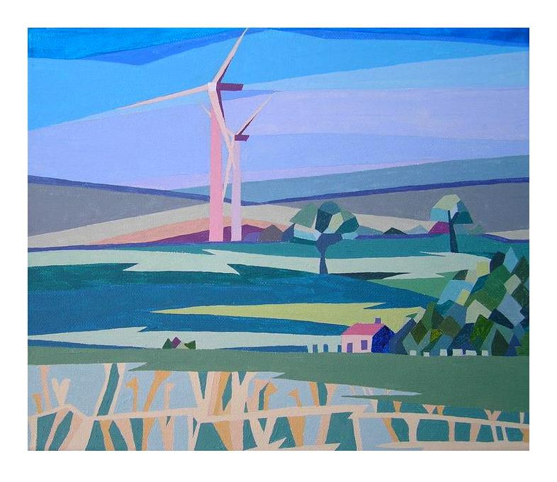 *Windmills above Satley