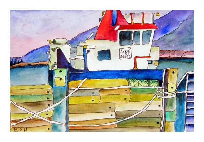 *Port Askaig ferry Islay
