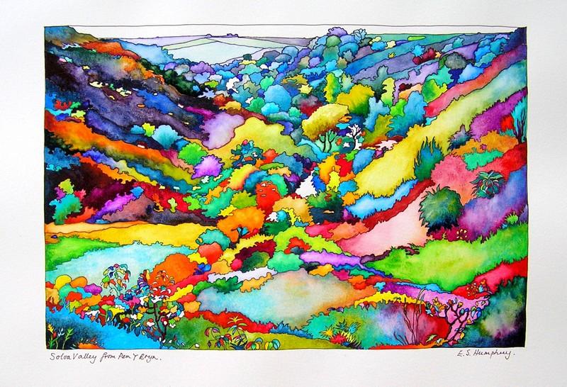 Solva Valley from Pen Y Brn