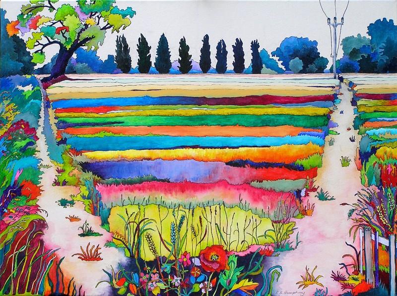 Wheat Field Shepreth Canvas