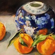 Ginger Jar and Three Mandarins