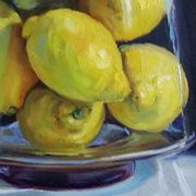 Lemons in Glass Vase