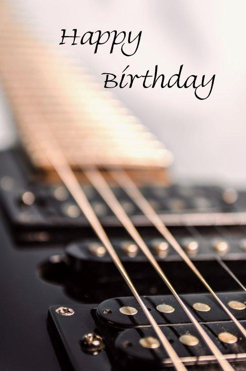 Birthday guitar greetings