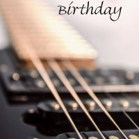 Birthday guitar greetings