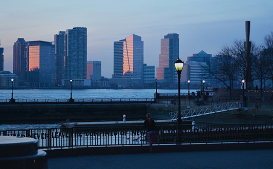 Sunset in New York.