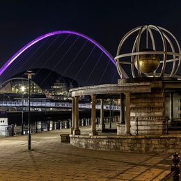 As night falls on the Quayside 2