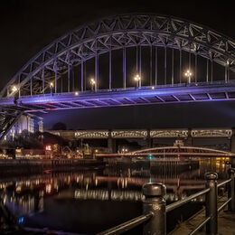 As night falls on the Quayside 3