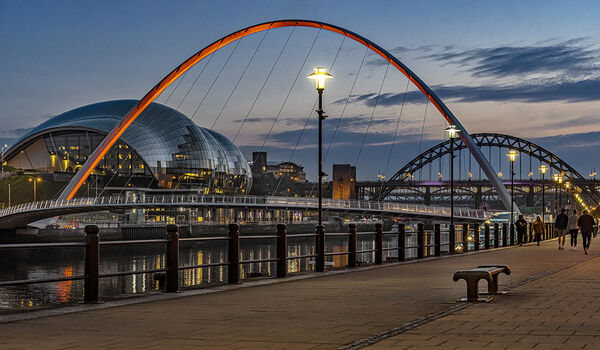 H.C. As night falls on the Quayside. Ray Bell. Judge: The Members.