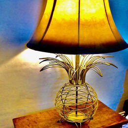 ERNEST HEMINGWAYS BEDSIDE LAMP: Good image with an interesting subject. Well taken although skirting board and blue coverlet to the right distract. Difficult to get right position.