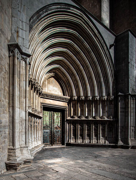 2nd. Girona Cathedral. Brian Nattrass. Judge: Malcolm Boyd: