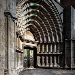 2nd. Girona Cathedral. Brian Nattrass. Judge: Malcolm Boyd: