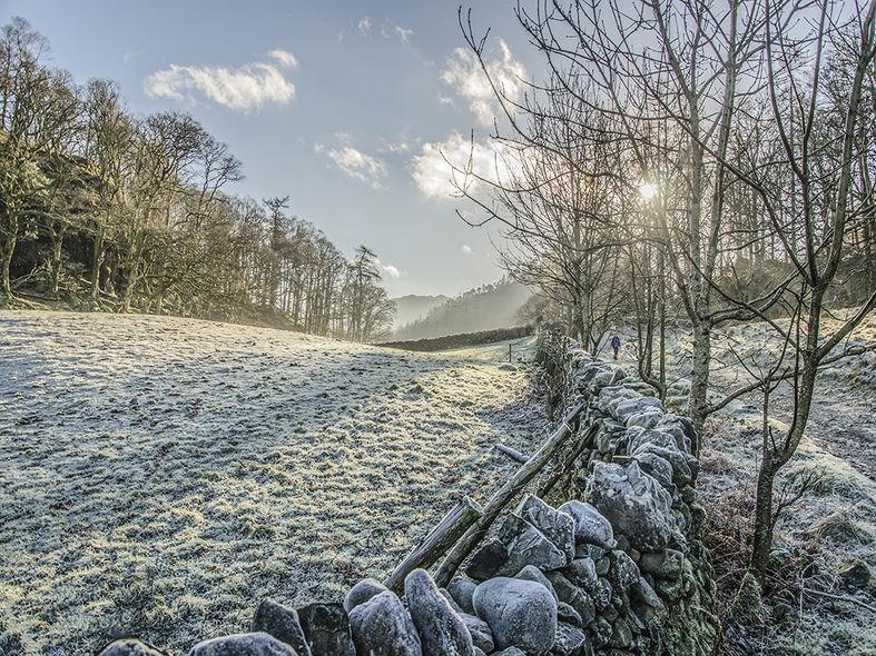 Hard frost in Borrowdale