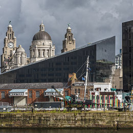 Commended. Old and New from the Albert Docks, Liverpool. Ray Bell. Judge: Ivor Robison.