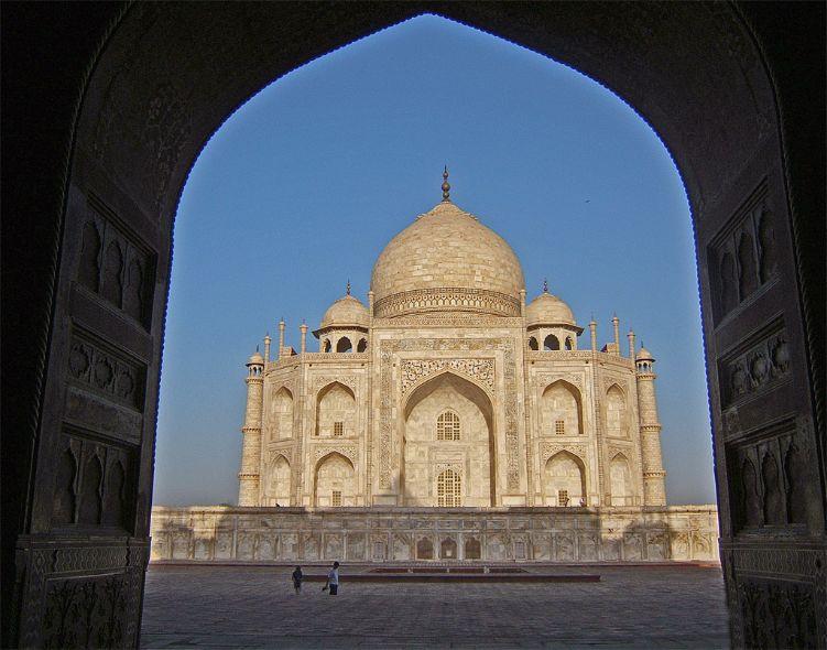 Taj Mahal through doorway