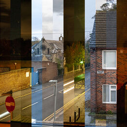 TAKE 1 EVERY 4 HOURS FOR 3 DAYS: A very interesting idea showing how light changes both through the day and over a series of days. Well put together and exposed to show this. Perhaps crop bit from the bottom and blue line to the right and two light spots to right?