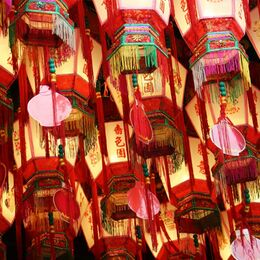 TEMPLE LIGHTS: Well seen and a good collection of colourful lanterns well exposed. Interesting shapes. A naughty nit pick – could the pink pieces have been turned to match the red of the others?