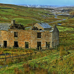 H.C. Wintery Weardale. Colin Davidson. Judge: Mavis McCormack.  Full of interest, good detail on the old building which . I like the road winding into the distance and the little stream meandering too.