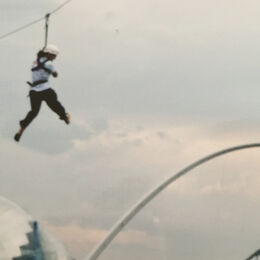 Zip wire over the Tyne