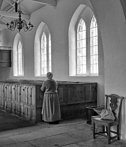 At the back of the pew
