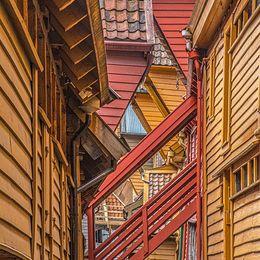Commended. Bergen Old Town. David Spoors. Judge: Ivor Robinson