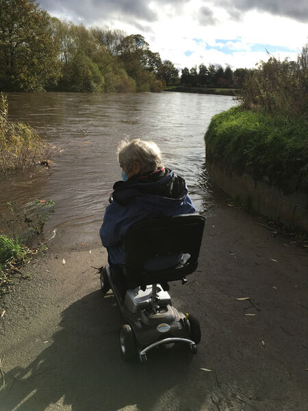 tow path flooded