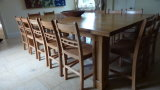 Set of 14 Ball Back side chairs