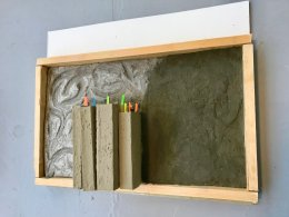 concrete books framed