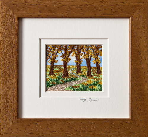 "Autumn wood. Mount size 5.25"" x 4.75"""