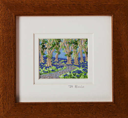 "Bluebell wood. Mount size 5.25"" x 4.75"""