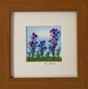 "Bluebells. Mount size 5"" x 5"""