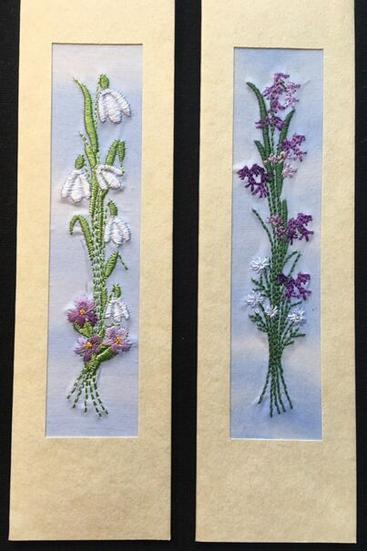 """Snowdrops and Bluebells Size 7"""" x 2"""""""