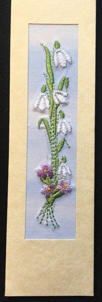 "Snowdrops and violets Size 7""x2"""
