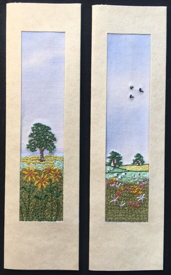 """Sunflower field and Meadow Size 7"""" x 2"""""""