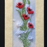 "Poppy card Size 7""x2"""